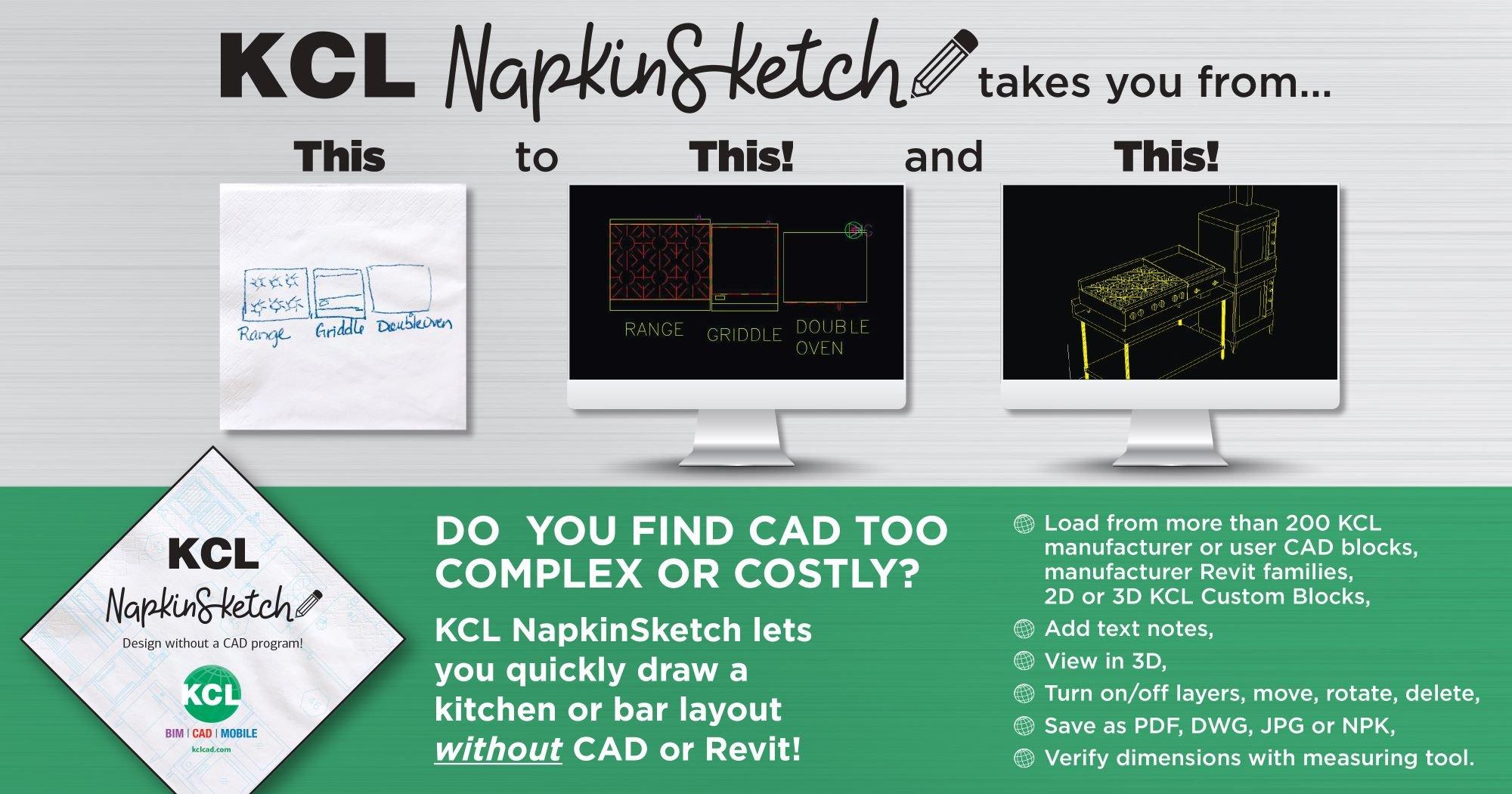 KCL Napkin Sketch Graphic Small