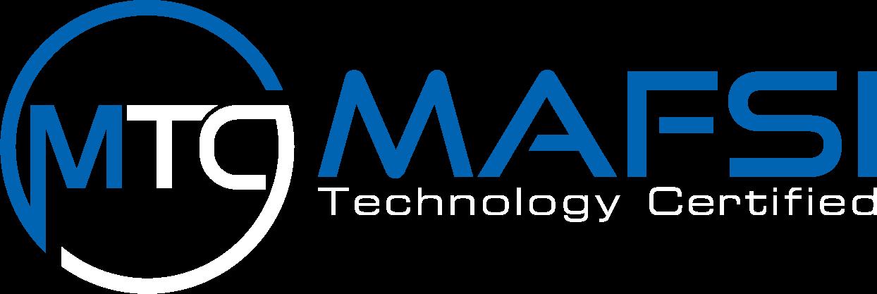 MAFSI Technology Certified Main Logo White Text