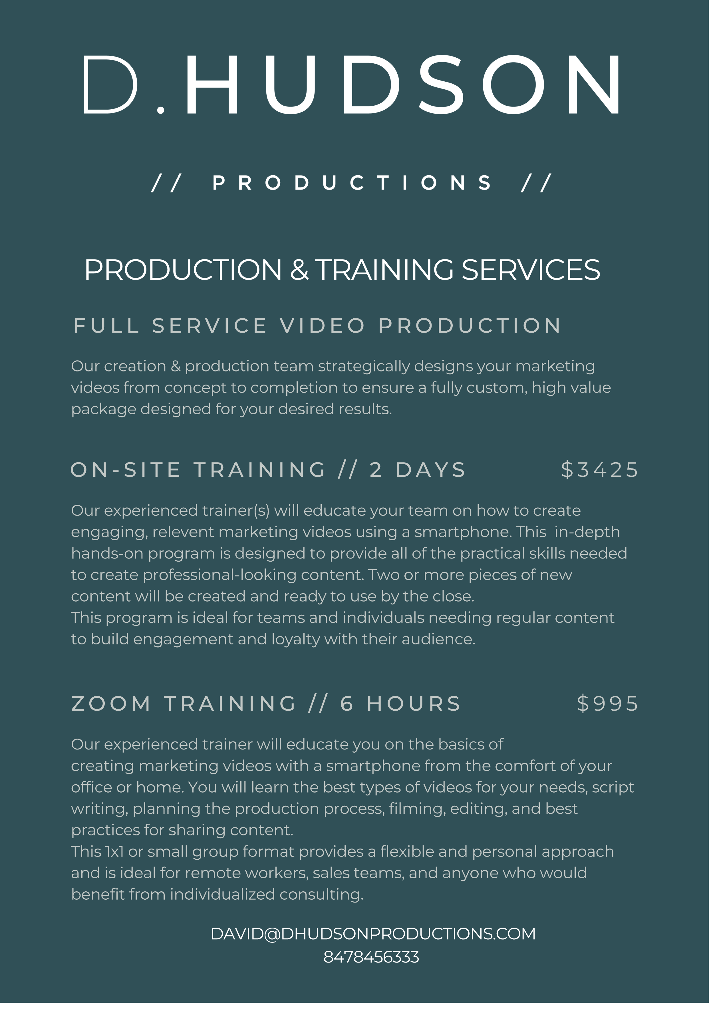 DHP - Production & Training Services